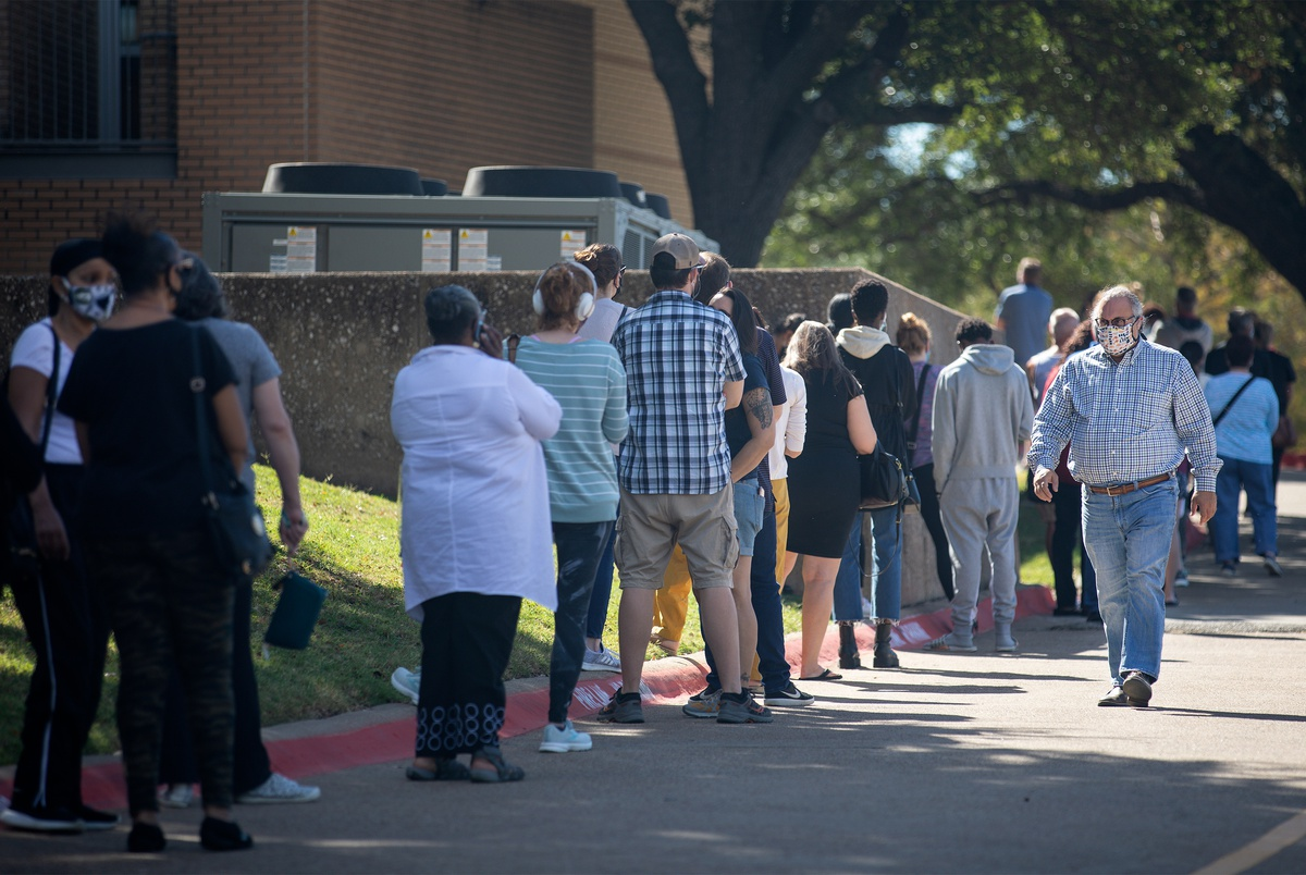 Texas early voting appears up. It's too early to know what ...