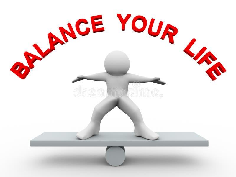 3d Man - Balance Your Life Royalty Free Stock Image ...