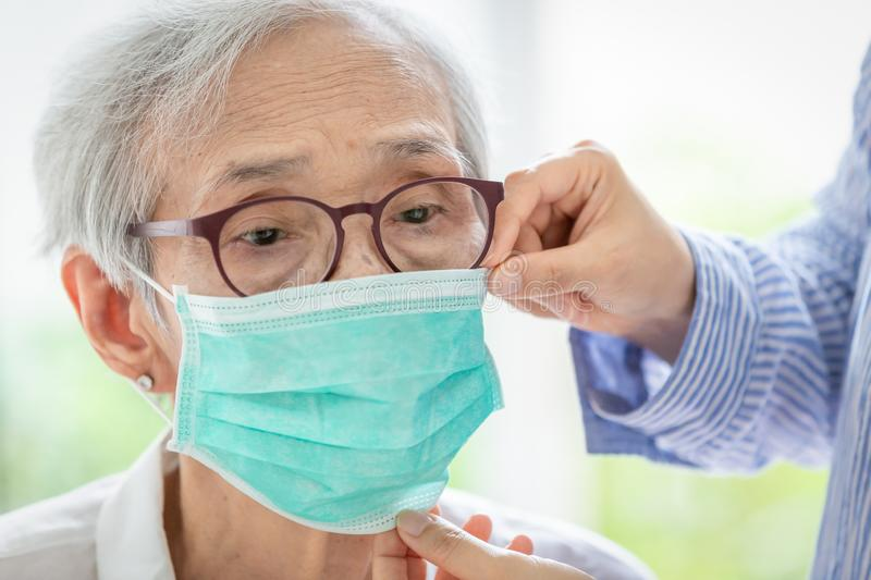 Old People Woman Sick Fever Cold Stock Photo - Image of ...