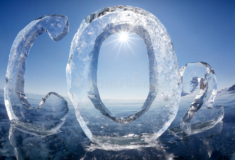 Icy Chemical Formula Of Carbon Dioxide CO2 Stock Image ...