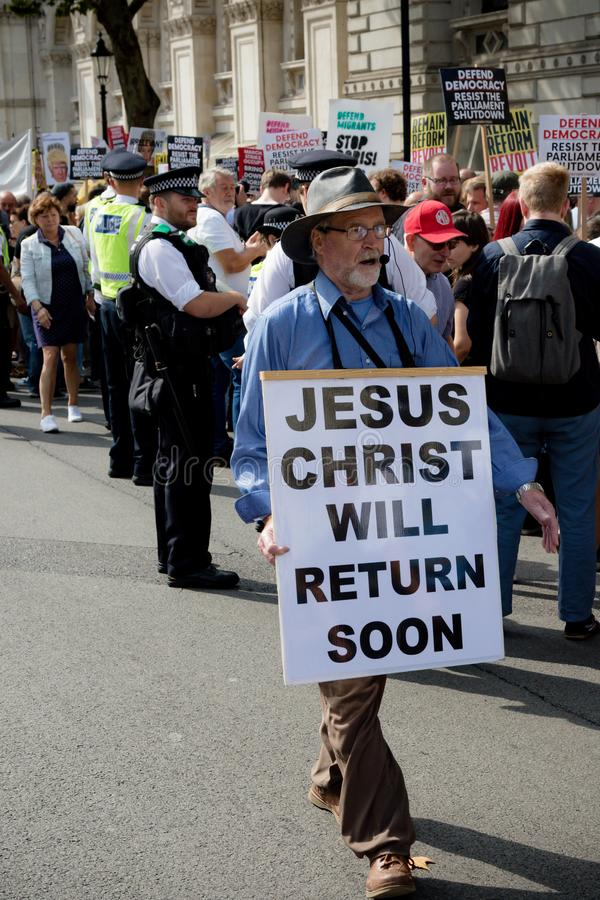 Christian Protester Attends Trump Protest Editorial Stock ...