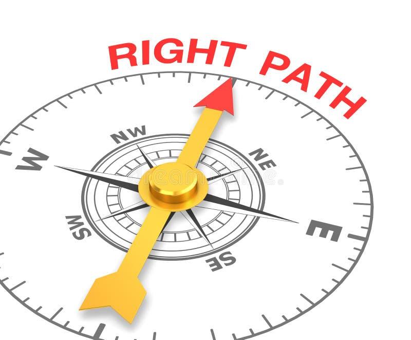 Follow the right path stock illustration. Illustration of ...