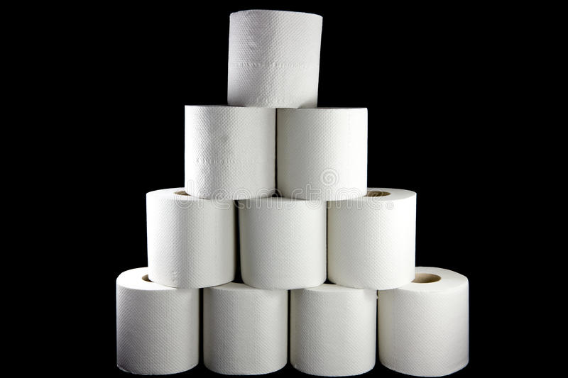 Toilet paper tower stock photo. Image of hygienic, toilet - 24181722