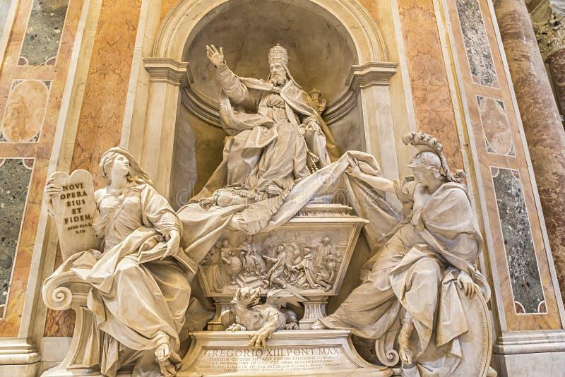 The Tomb Of Gregorio XIII In Saint Peter's Basilica ...