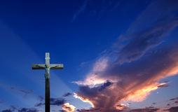 Christian Cross On Sunset Royalty Free Stock Image - Image ...