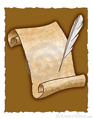 Parchment Scroll And Quill Pen Royalty Free Stock ...