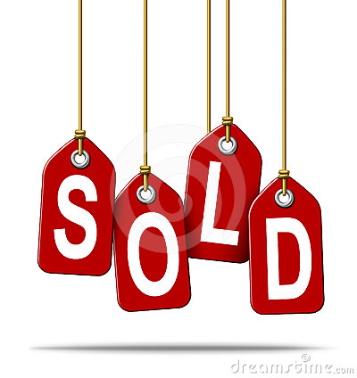 Sold Retail Price Tag Sign Stock Photography - Image: 24326802