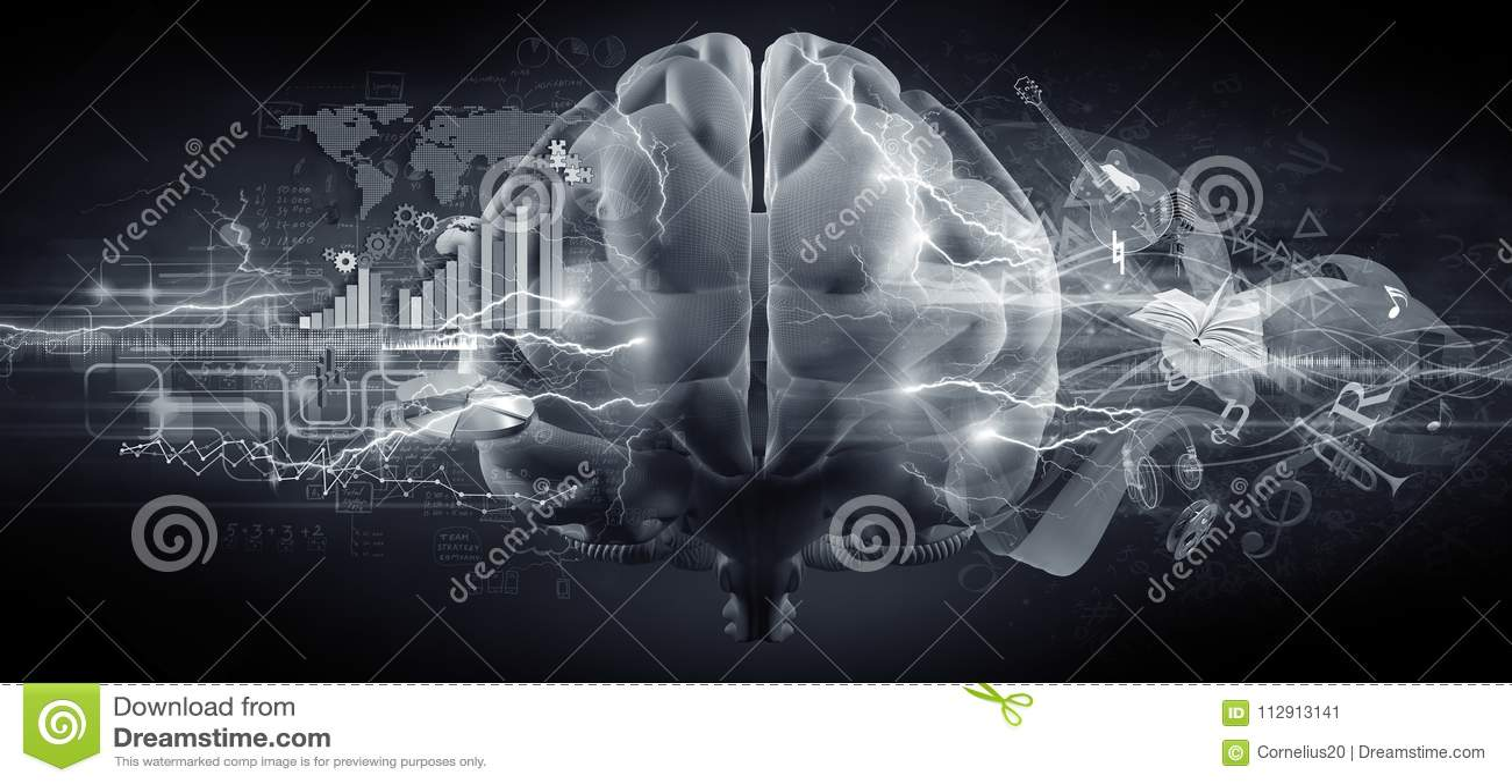 Brain concept stock illustration. Illustration of cerebrum ...