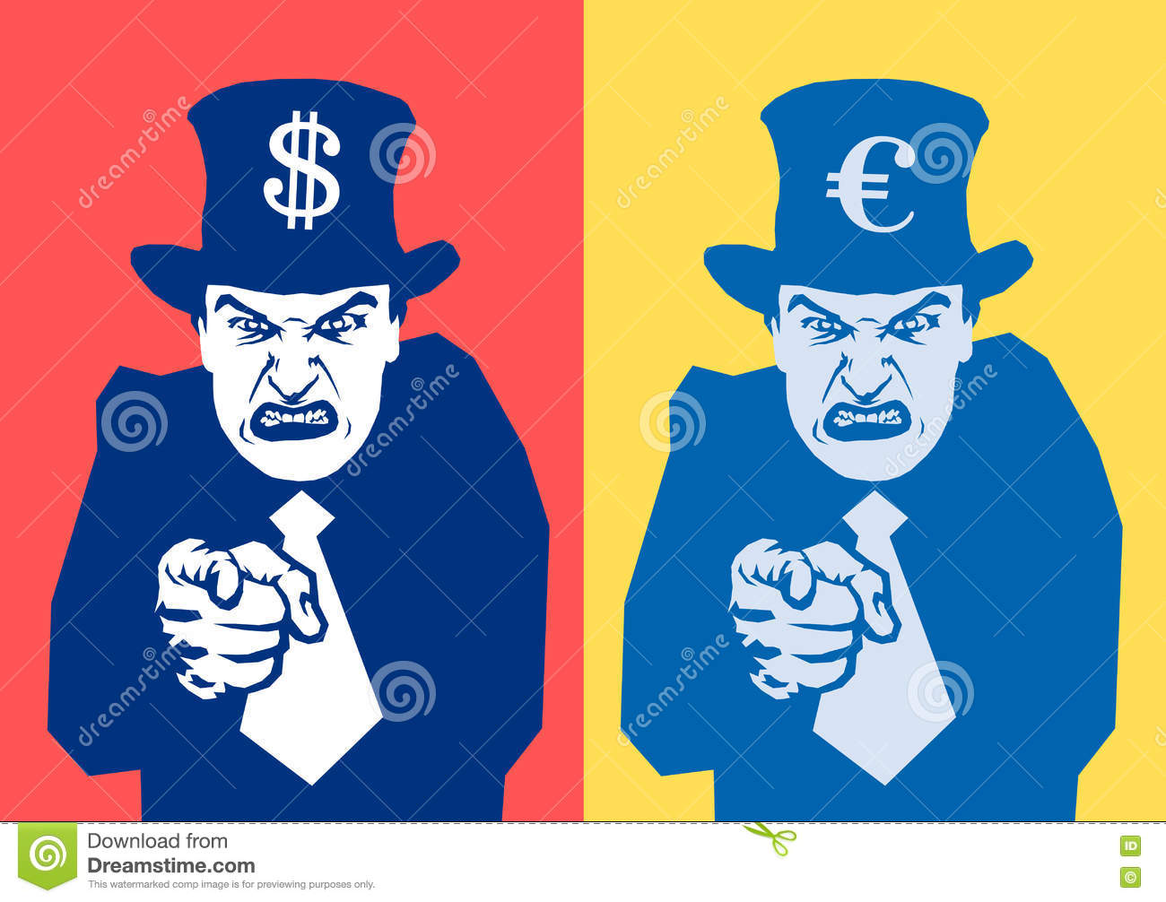 Financial oppression stock vector. Illustration of domination - 79750262