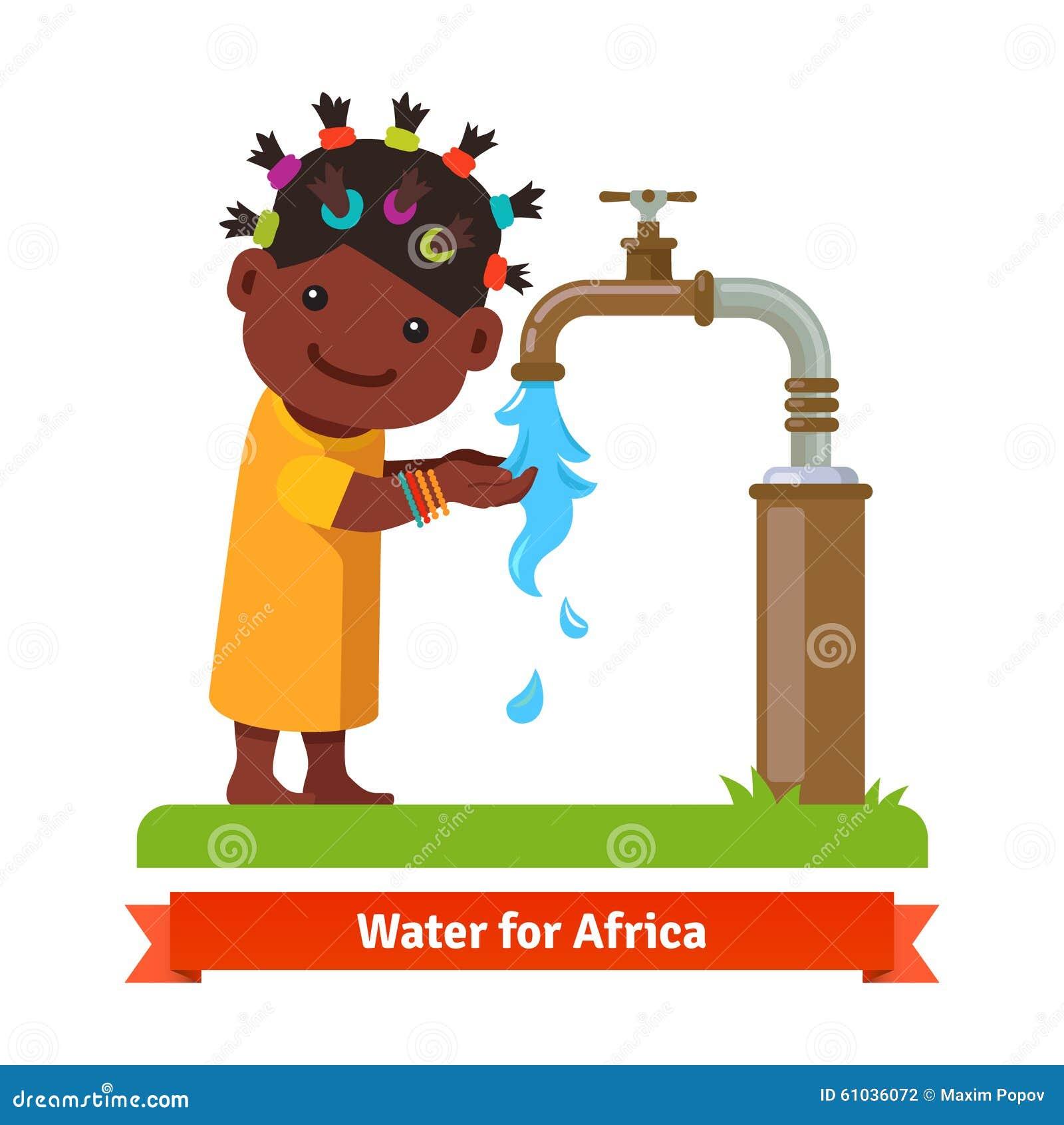 Girl Washing Hands. Water Shortage Symbol Stock Vector ...