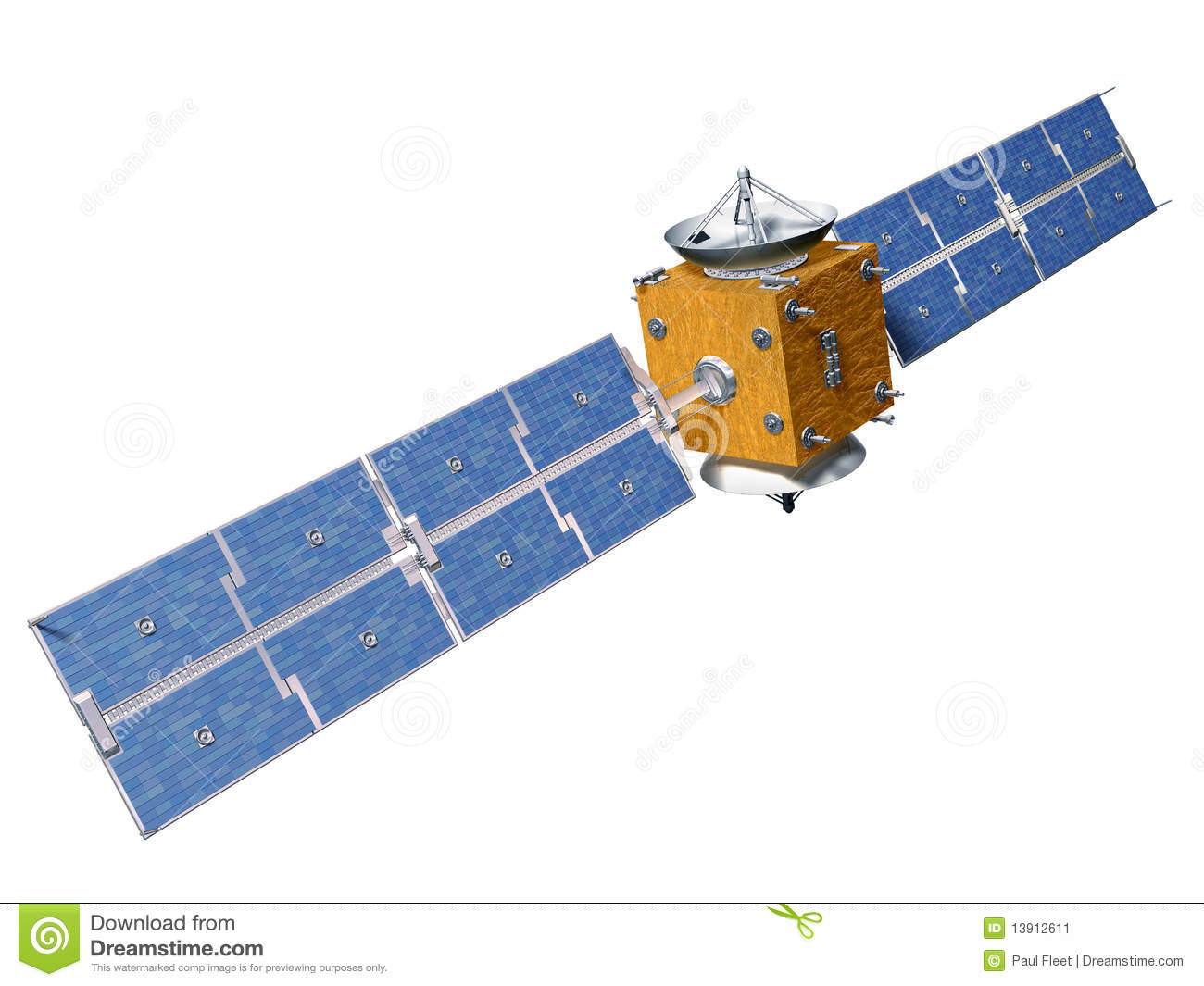 Isolated Satellite Stock Image - Image: 13912611