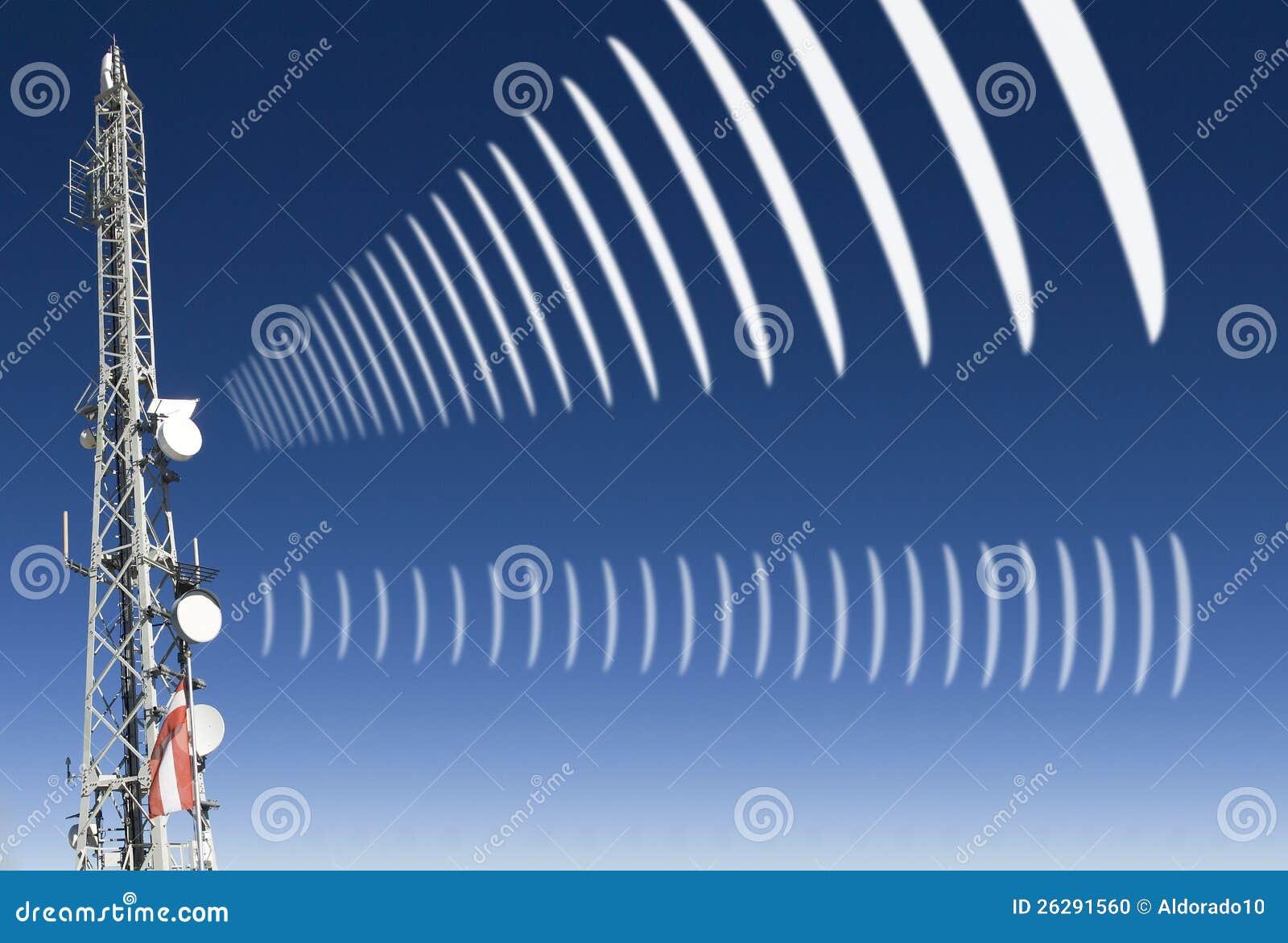 Mobile radio radiation stock photo. Image of emission ...