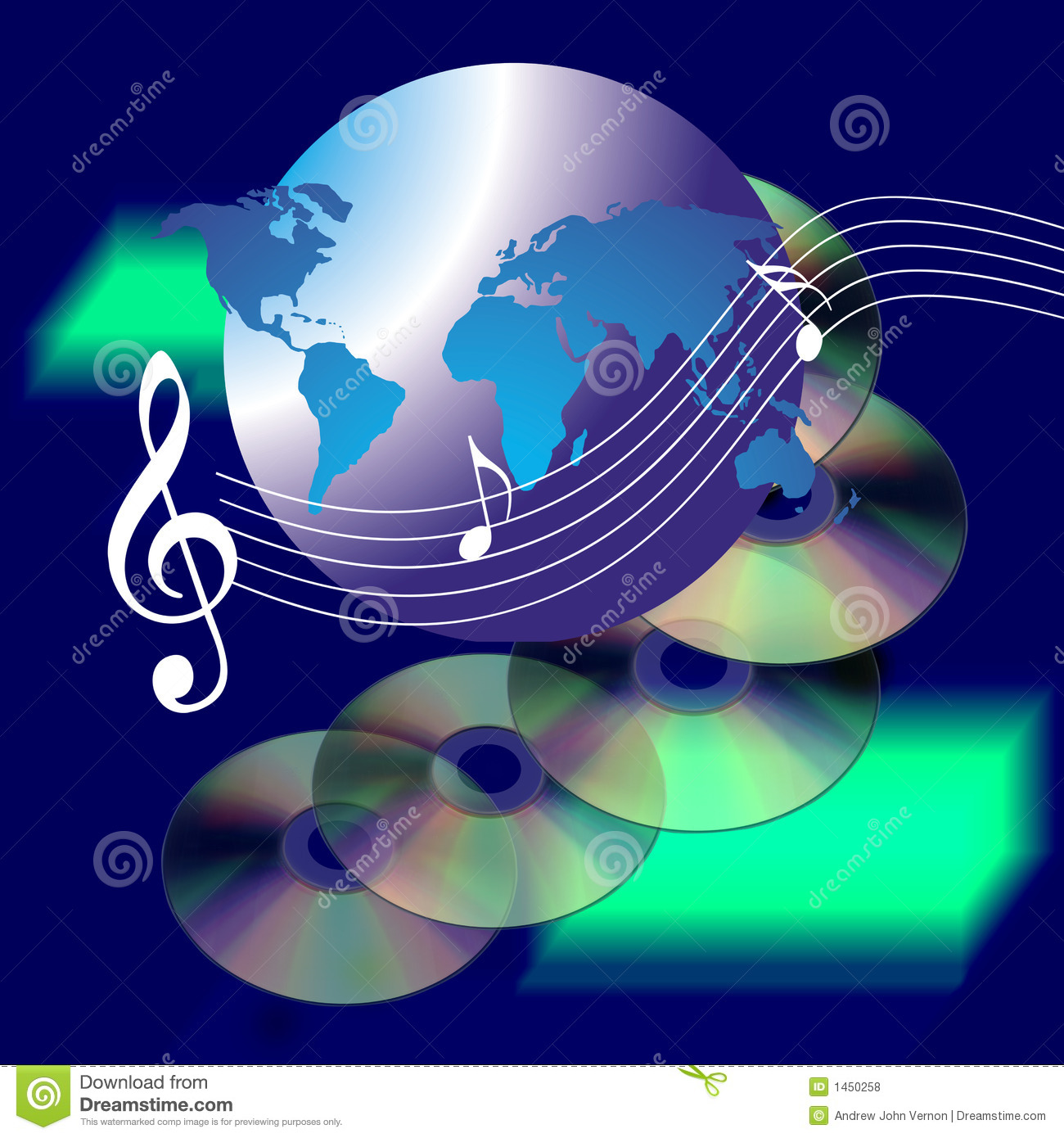 Music World The Internet And CD Royalty Free Stock Photos ...
