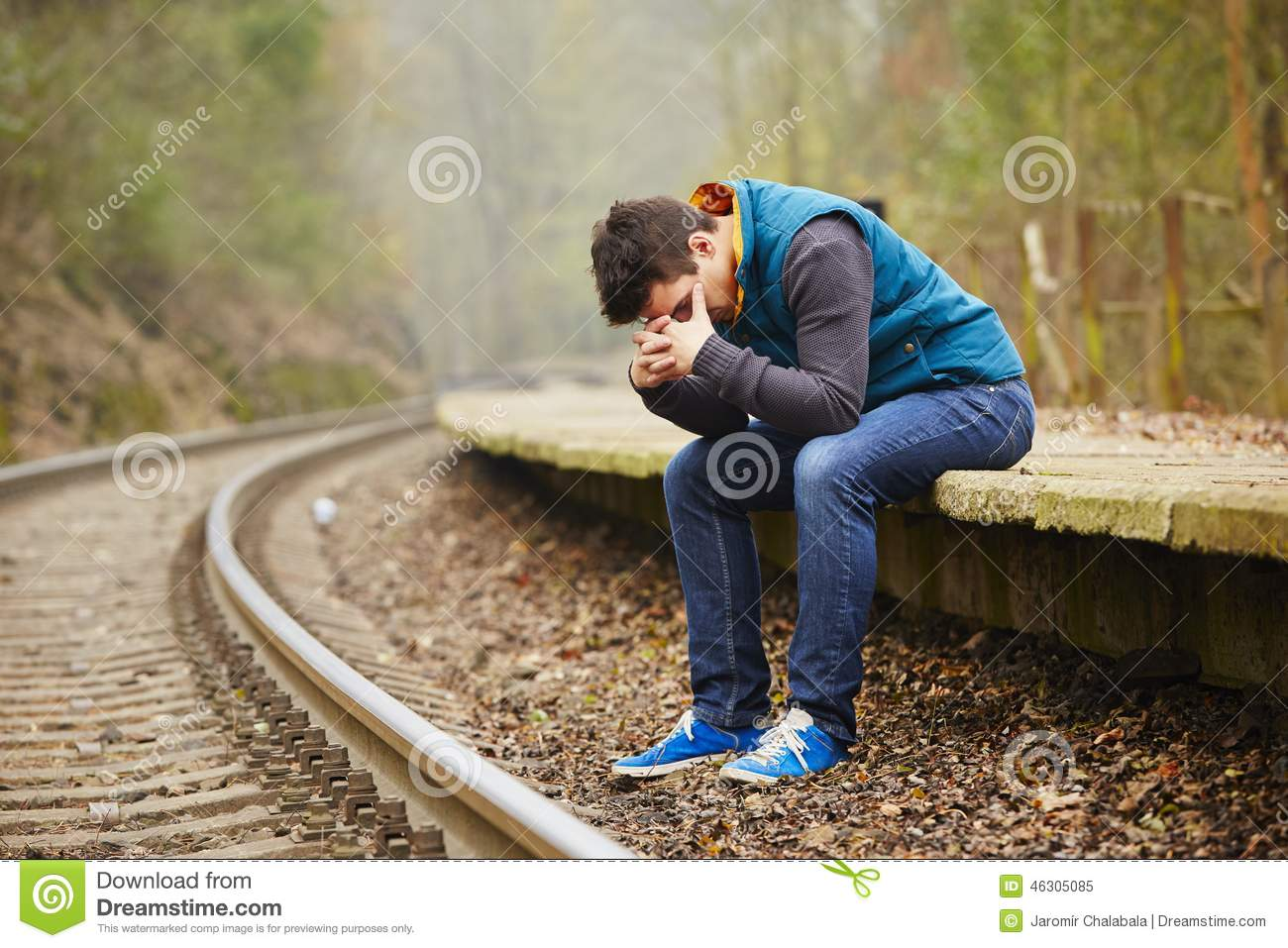 Sad man stock image. Image of loneliness, lonely, life - 46305085