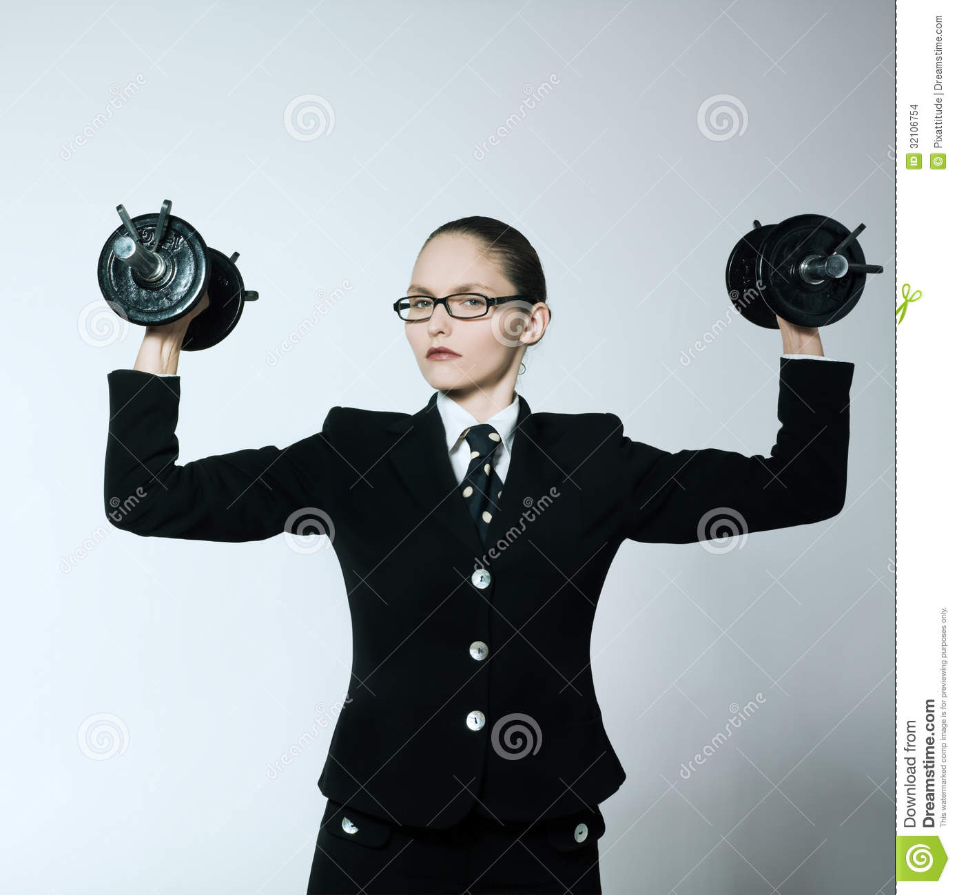 Strong business woman stock photo. Image of arrogance ...