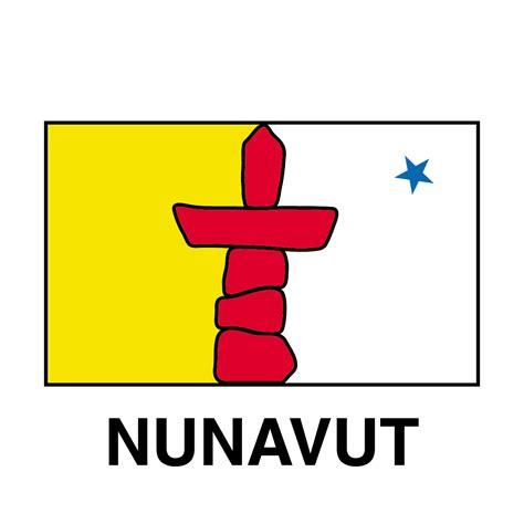 Clip Art: Flags: Nunavut B&W   abcteach