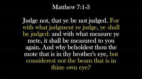 For with what judgment ye judge, ye shall be judged: - YouTube