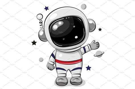 Cartoon astronaut isolated on a | Custom-Designed ...