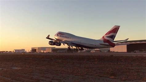 British Airways 747 departing LAX - YouTube