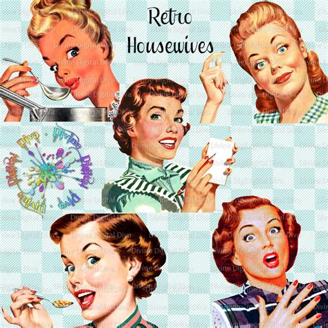 Retro Housewives 50s Vintage | Mid Century Modern Women ...