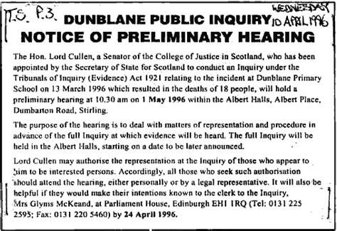 Dunblane Public Inquiry