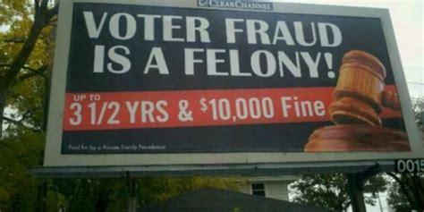 Justice Department investigating vote fraud