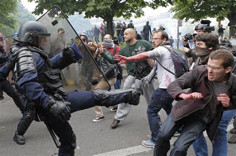 Strike gets violent over France's economic future   The ...