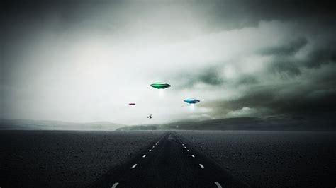 Sci fi invasion ufo spaceship spacecraft roads landscapes sky clouds alien wallpaper | 1920x1080 ...