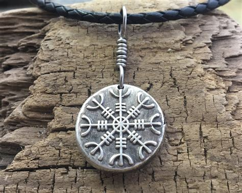 Helm of Awe Pendant, Viking Jewelry, Sterling Silver, Men's Jewelry, Nordic Necklace ...