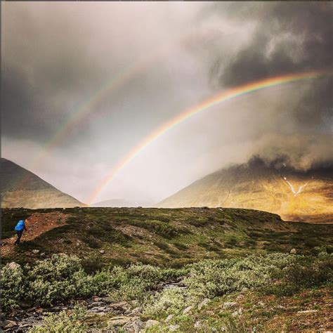 Double Rainbow in the beautiful landscape image - Free ...