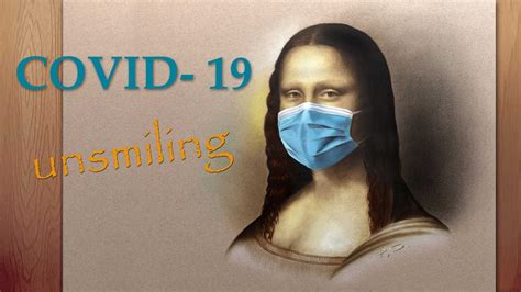 Mona Lisa not smiling/ COVID 19 drawing painting face mask ...