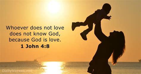 1 John 4:8 - Bible verse of the day - DailyVerses.net