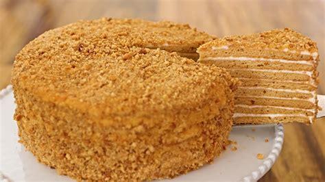 Medovik - Russian Honey Cake Recipe - YouTube