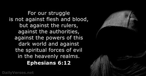 Ephesians 6:12 - Bible verse of the day - DailyVerses.net
