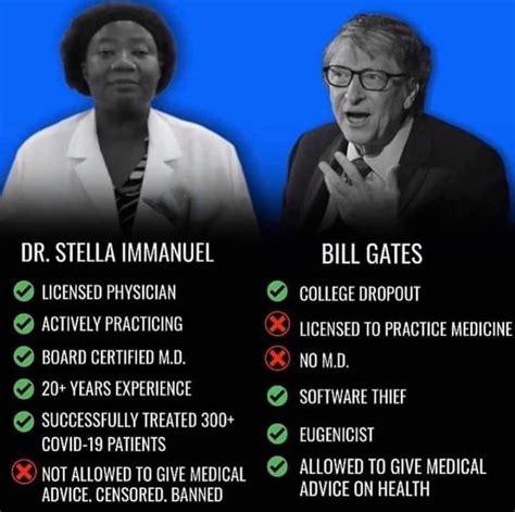 Stella Immanuel vs. Bill Gates qualifications