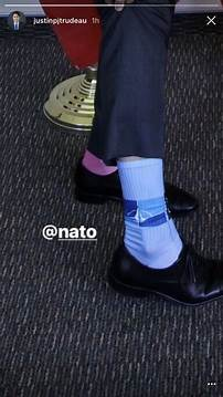 Canadian prime minister justin trudeau had nato-themed ...
