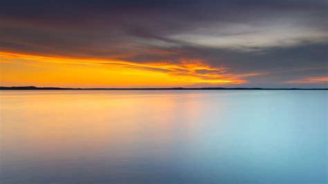 Download wallpaper 3840x2160 sea, horizon, sunset, stone ...