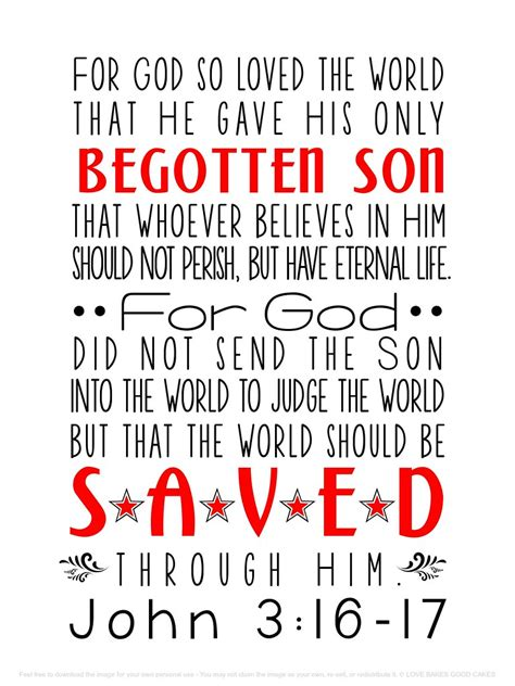 John 3:16-17 Subway Art | lovebakesgoodcakes | Flickr