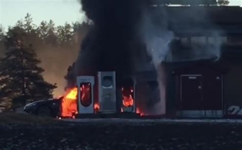 Tesla Model S catches fire at charging station in Norway | PerformanceDrive