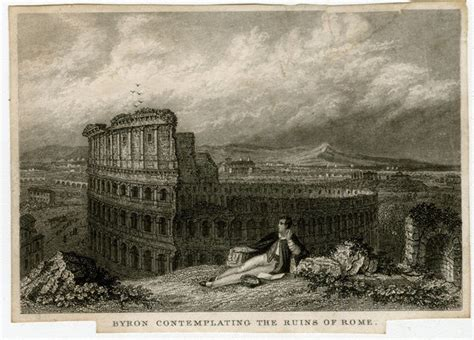 Lord Byron contemplating the Colosseum in Rome (14397672 ...