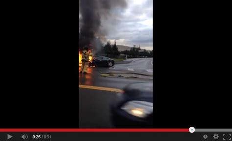 Tesla Model S Driver Hits Object On HOV Lane Near Kent, Washington, Car Smokes, Catches Fire; Is ...