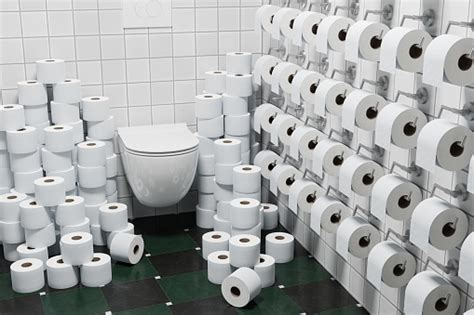3d Render Concept Hoarding Of Toilet Paper Because Of ...