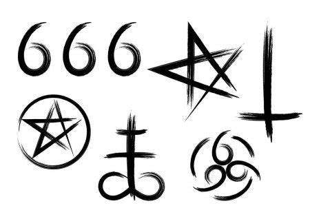 ᐈ Satanic cross tattoo stock vectors, Royalty Free ...