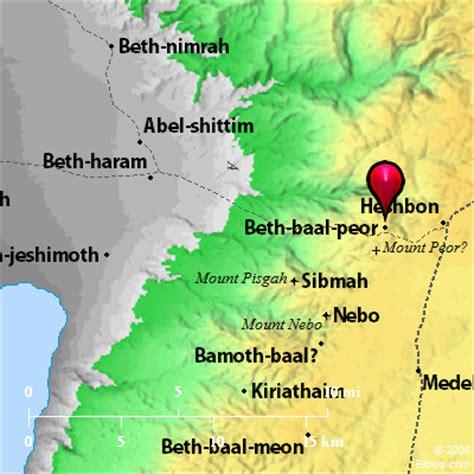 Bible Map: Beth-baal-peor