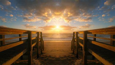 Free Images : sunset, waters, dawn, bridge, pier ...