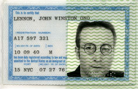 40 Year Itch: 40 Year Itch : Lennon Granted a Green Card