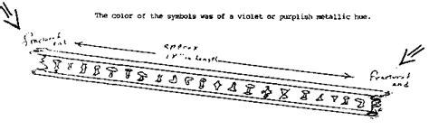 ROSWELL I-BEAM HIEROGLYPHS: UFO Alien Hieroglyphic Writing ...