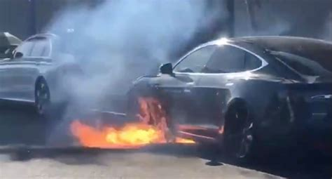 Tesla Model S battery caught on fire 'without accident', says owner - Tesla is investigating ...