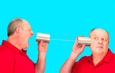 Tin Can String Telecommunications Stock Image - Image ...