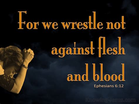 Ephesians 6:12 For our struggle is not against flesh and ...